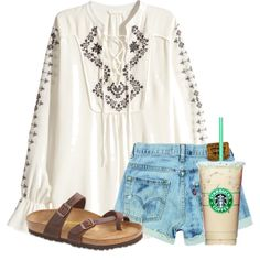 Somewhat hippie by flroasburn on Polyvore featuring H&M and Birkenstock