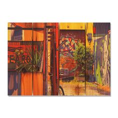Garden Graffiti 22.5x16 Indoor/ Outdoor Full Color Wall Art