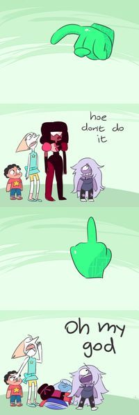 My favourite part of this is that Garnet split out of sheer shock.