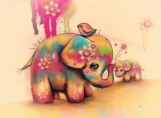 Vintage Tie Dye Elephants Painting by Karin Taylor - Vintage Tie Dye Elephants Fine Art Prints and Posters for Sale Elephant Love, Little Elephant, Elephant Art, Elephant Tattoos, Baby Elephant Drawing, Elephant Paintings, Elephant Poster, Vintage Elephant, Elefante Tattoo
