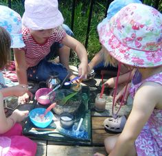 making potions! use powdered paint, dregs from bottom of paint containers, flour, sand, baking soda, etc.