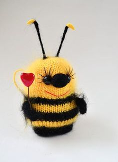 Items similar to Bumble Bees Toy Bee Stuffed Toy Bee Bee Nursery Bumble Bee Nursery Bee Softies Stuffed Bees Bee Ornament Knit Bee Easter decor Easter gift on Etsy Crochet Bee, Crochet Toys, Softies, Bumble Bee Nursery, Bumblebee Toys, Bee Art, Bee Happy, Felt Toys, Miniature Dolls