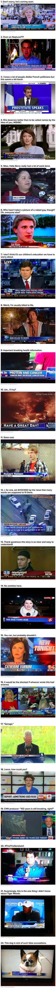 Here are some funny news captions you will not believe are real.
