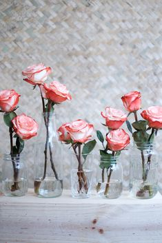 Quick and easy rose table setting idea