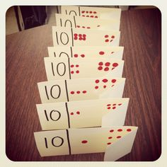 "Great for making 10! ""3 plus what makes 10?"" And the inverse operation ""10 minus 3 is what?"""""