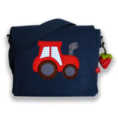 Kindergarten bag with name tractor- Sewing Patterns Free, Free Sewing, Purse For Teens, Dice Bag, Diy Purse, Sewing For Kids, Purses And Handbags, Cross Body, Baby Shoes