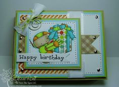 Jessie's card from There She Goes, using the Windshield Wiper Tutorial from SCS