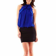 Bisou Bisou® Halter Neck Dress - JCPenney