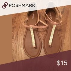 Selling this Women's Size 10 Nude Flat Sandals-NWOT on Poshmark! My username is: indigoloft. #shopmycloset #poshmark #fashion #shopping #style #forsale #Shoes