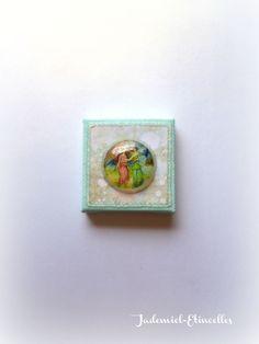 """Réservé Nathabelleu Mini toile décorative série """" Il était une fois : les fées """" n°4 : Accessoires de maison par jademiel-etincelles"""