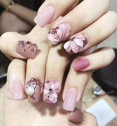 Easy Nail Art Designs for Beginners Easy Nail Art Designs for Beginners 3d Nail Designs, Simple Nail Art Designs, Nail Polish Designs, Easy Nail Art, Nails Design, Pink Nail Art, Pink Nails, Trendy Nails, Cute Nails