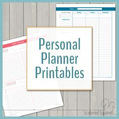 Here's the whole collection of Personal Planner printables currently available. All of them are free for personal use, so please have fun with them!