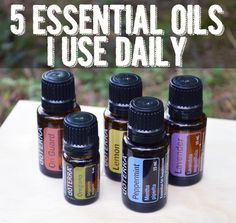 These essential oils are a daily staple in our house for natural cleaning, homemade beauty products, for natural remedies and freshening the air.
