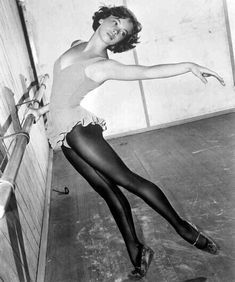 Leslie Caron - studied dance for 7 years and was a professional dancer for 2 years at Ballet des Champs-Elysees, Paris, France - kept doing barre daily