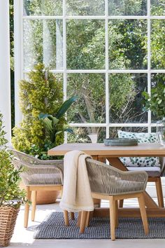 The rope detailing on the Malibu chair adds textural detail for a rustic, casual look that works both indoors and on the patio. Grey Chair, Outdoor Furniture Sets, Outdoor Decor, Outdoor Living, Dining Chairs, Indoor, Patio, Rustic, Detail