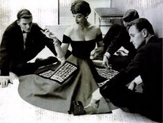 Parlor Game Skirts Made for Party Play, 1953
