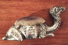 Rare-silver-seated-camel-pin-cushion-Birmingham-1906