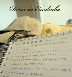 DICAS DA CANDINHA: Check List para a viagem