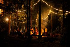 Stanya & Lenny's Bohemian Forest Wedding .... Looks like allot of fun! and I LOVE the lighting