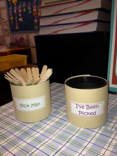 Fluttering Through First Grade: Pick Me cups