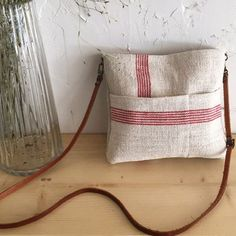 Cheerleading Gifts, Striped Bags, Linen Bag, Fabric Bags, Clutch, Corporate Gifts, Handmade Bags, Bag Making, Purses And Bags