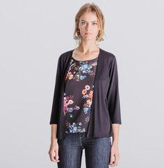 3262e7fd11c Top femme 2 en 1. Top femme 2 en 1 - T-shirts femme - Phildar