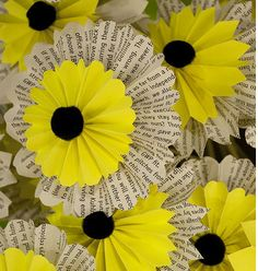 Sunflower Craft Template | ... use the book pages as shown for a Sunflower Summer Book party! Source