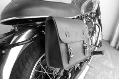 Handcrafted in Portland, Oregon USA. Please allow 2 to 3 weeks for delivery. These handmade leather saddle bags are perfect to carry your tools or personal belongings on your motorcycle or bike. It fe
