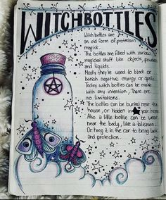 modern witch The Witch Bottles spell, Witch Spell Book, Witchcraft Spell Books, Magick Spells, Wicca Witchcraft, Hoodoo Spells, Moon Spells, Witchcraft Spells For Beginners, Witch Bottles, Grimoire Book