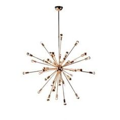 Spark Hanging Chandelier 39 Inches Gold | Overstock.com Shopping - The Best Deals on Chandeliers & Pendants