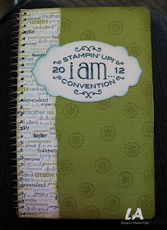 My Convention notebook!
