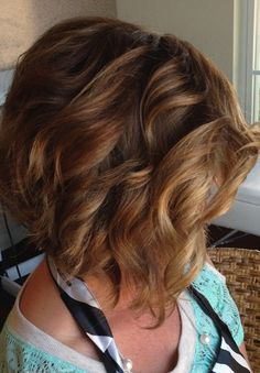 Stacked Curly Bob Haircut. COLOR AND STYLE YES YES YES!