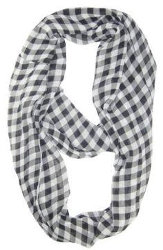 Amtal Infinity Checkered Design Scarf - Black & White - One Size Amtal. $7.99