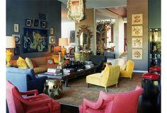 One Kings Lane - Kelly Wearstler: Domicilium Decoratus - Oversized Low Coffee Table, Gray