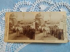 Antique stereo photo/stereoview Buddhist funeral Kyoto,Japan Strohmeyer NY Kyoto Japan, Folklore, Funeral, Vintage Photos, Religion, Antiques, Ebay, Antiquities, Antique