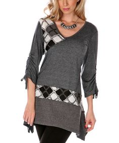 Another great find on #zulily! Black Argyle Tunic by Lily #zulilyfinds