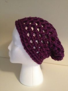 N E W The SUPER Slouch Beanie in Plum by Jessmiloo on Etsy, $20.00