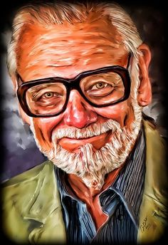 George A Romero http://batiesphotography.com #horror #movies #digitalart