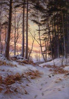 Afterglow, 1912 by Joseph Farquharson (Scottish 1846-1935)