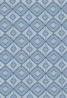 Trina Turk Amazing Maze Indoor/Outdoor in Ocean for Schumacher