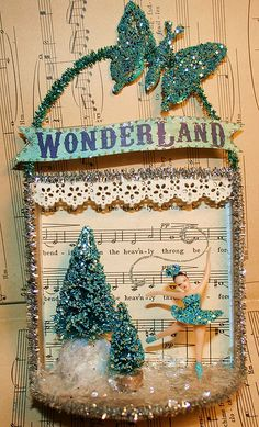 From Sea Dream Studios lovely mixed media Christmas/ Winter craft