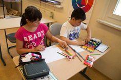 Ostseekinder malen ihr großes Bild   Schnappschüsse vom Malen mit den Ostseekindern (c) Frank Koebsch (9)