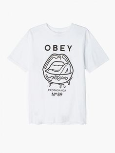 Wet Lips Thrift T-Shirt, Men's Tops - Obey Clothing UK Store - Obey Mens Clothing, Obey Womens Clothing, Obey T shirts and all things Shepard Fairey , Obey Propaganda and Obey Giant.