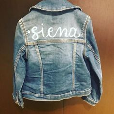 Having fun customizing a sweet little jacket for a sweet little girl. Painted Jackets, Learn Calligraphy, Little Girls, Have Fun, Hand Painted, Places, Sweet, Instagram, Art