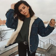 Shop our slideshow for the 45 best winter coats that won't let you down. Shop our slideshow for the 45 best winter coats that won't let you down. Mode Outfits, Casual Outfits, Fashion Outfits, Black Jeans Outfit Casual, Edgy Fall Outfits, Beach Outfits, Best Winter Coats, Look Retro, School Looks