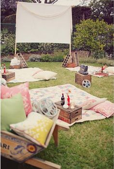 Outdoor movie #WoonStore #camping #outdoor