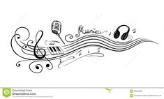 Find Clef Music Notes Microphone Piano stock images in HD and millions of other royalty-free stock photos, illustrations and vectors in the Shutterstock collection. Music Note Symbol, Music Notes Art, Sheet Music Art, Music Symbols, Digital Sheet Music, Art Music, Music Border, Music Notes Background, Hunter Tattoo