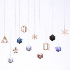 SNUG.STUDIO xmas pendants // http://snugonline.bigcartel.com/category/christmas