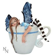 I NEED COFFEE FAIRY IN COFFEE CUP 12CM - AMY BROWN - NEMESIS NOW by Nemesis Now