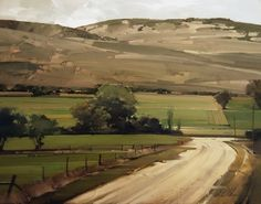 "2011, Fields and Hills by Joseph Alleman Oil on panel. 11"" x 14"""